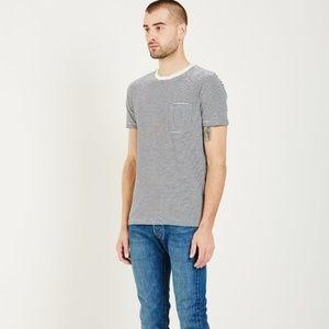 Levi's Shirts - Levi's Made & Crafted Striped Pocket Tee Indigo